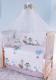 Комплект в кроватку Баю-Бай Раздолье К80-Р4 (голубой) -