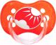 Пустышка Canpol Природа силиконовая круглая 18мес / 22/415 (красный) -
