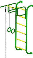 Детский спортивный комплекс Пионер 7М (зеленый/желтый) -