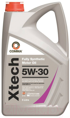 Моторное масло Comma Xtech 5W30 / XTC5L (5л)
