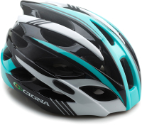 Защитный шлем Cigna WT-016 57/61 (чёрный/бирюзовый/белый) -