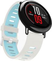 Ремешок для умных часов Miru DSJ-05 4080 (силиконовый, белый/голубой) -