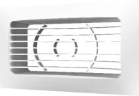 Решетка вентиляционная ERA 620РСФ (с фланцем) -