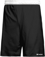 Шорты баскетбольные 2K Sport Training / 130063 (S, черный/белый) -