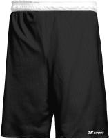 Шорты баскетбольные 2K Sport Training / 130063 (XL, черный/белый) -
