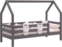 Стилизованная кровать детская Мебельград Соня с надстройкой (лаванда) -