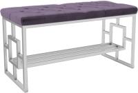 Банкетка Hype Mebel Квадро Люкс (белый/фиолетовый) -