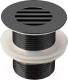Донный клапан Belux LV 8890 (хром/черный матовый) -