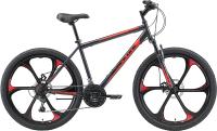 Велосипед Black One Onix 26 D FW 2021 (18, серый/черный/красный) -