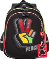 Школьный рюкзак Grizzly RAZ-187-4 (черный) -