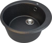 Мойка кухонная Гамма Гранит Granite-01 (черный) -