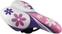 Сиденье велосипеда DDK Flower / 1217A (белый/розовый) -