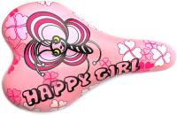 Сиденье велосипеда DDK Happy Girl / 1217A (розовый) -
