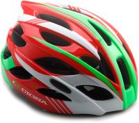 Защитный шлем Cigna WT-016 57/61 (красный/зеленый/белый) -