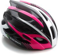 Защитный шлем Cigna WT-016 57/61 (черный/розовый/белый) -