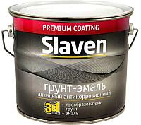 Эмаль Slaven По ржавчине (20кг, светло-серый) -