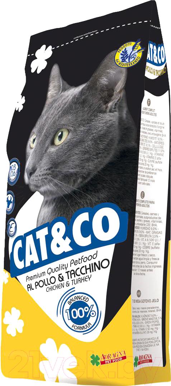 Купить Корм для кошек Adragna, Cat&Co Chicken&Turkey (20кг), Италия