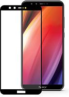 Защитное стекло для телефона Case Full Screen для Honor 9 Lite (черный глянец) -