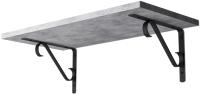 Полка Stoly By Соната / П-1.3С (бетон чикаго светло-серый/черный держатель) -