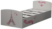 Односпальная кровать Олмеко Лего 2 (париж/белый) -