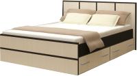 Полуторная кровать Rikko Джулия 140x200 (венге/дуб атланта) -