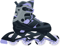 Роликовые коньки Ridex Velum L (р-р 38-41, пурпурный) -