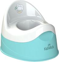 Детский горшок Kidwick Дуэт / KW100104 (бирюзовый/белый) -