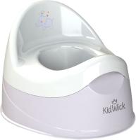 Детский горшок Kidwick Дуэт / KW100404 (серый/белый) -