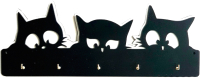 Ключница настенная Grifeldecor Черный кот / BZ212-4B422 -