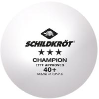 Мячи для настольного тенниса Donic Schildkrot 3 Champion ITTF (3шт, белый) -