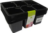 Кассета для рассады ГазонCity 6 ячеек (10шт, черный) -