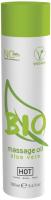 Эротическое массажное масло HOT Bio Massage Oil Aloe Vera / 44152 (100мл) -