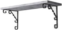 Полка Stoly By Арфа / П-1.3А (бетон чикаго светло-серый/черный держатель) -