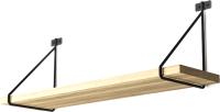 Полка Stoly By Фантом / П-1.1Ф (дуб галифакс натуральный/черный держатель) -
