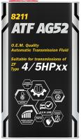 Трансмиссионное масло Mannol AG52 Automatic Special / MN8211-4ME (4л) -