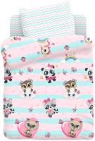 Комплект постельный детский Непоседа Juno. Малыши девочки / 695865 -