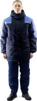 Куртка рабочая PROTECT Протект утепленная (р-р 60-62/182-188, темно-синий/василек) -