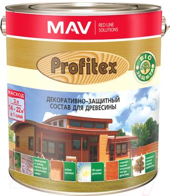 Защитно-декоративный состав MAV Профитекс (900мл, красное дерево)