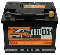 Автомобильный аккумулятор Автофан 6СТ-60 Евро (60 А/ч) -