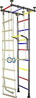 Детский спортивный комплекс Крепыш Г-образный (с ПВХ покрытием, серый) -