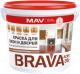 Краска MAV Brava ВД-АК-1035У (1л, белый полуглянцевый) -