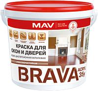 Краска MAV Brava ВД-АК-1035У (5л, белый полуглянцевый) -