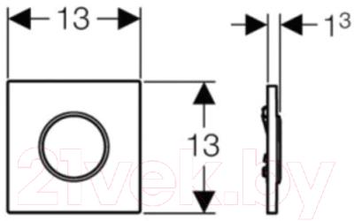 Кнопка для инсталляции Geberit Sigma 10 / 116.015.KN.1