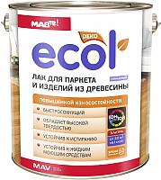 Лак MAV Ecol для паркета (1л, глянцевый) -