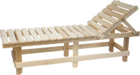 Лежак для бани Парилочка 1800x550x445 (с регулирующейся спинкой) -