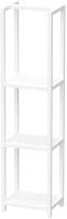 Стеллаж Millwood Венеция 40x30x159.5 (дуб белый Craft/металл белый) -