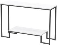 Консольный столик Millwood Пекин 4 Лофт Л 120x35x80 (дуб белый Craft/металл черный) -