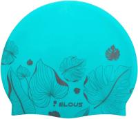 Шапочка для плавания Dark Shark Elous EL009 (листики/голубой) -
