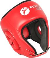 Боксерский шлем RuscoSport С усилением (M, красный) -