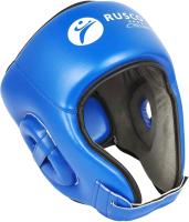 Боксерский шлем RuscoSport С усилением (L, синий) -